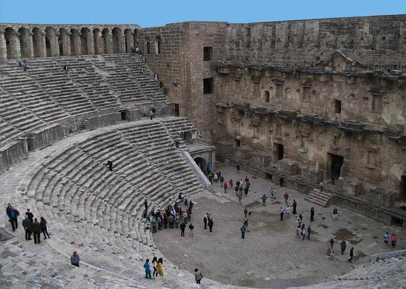 Aspendos 30 minutes from the villa by car