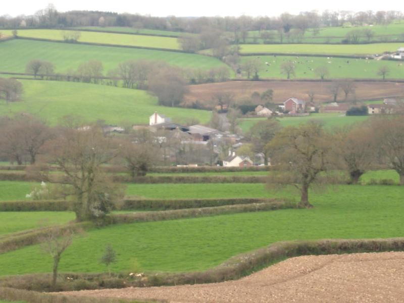 Godford farm is in centre of pic - Blackdown Hills Area of Outstanding Natural Beauty