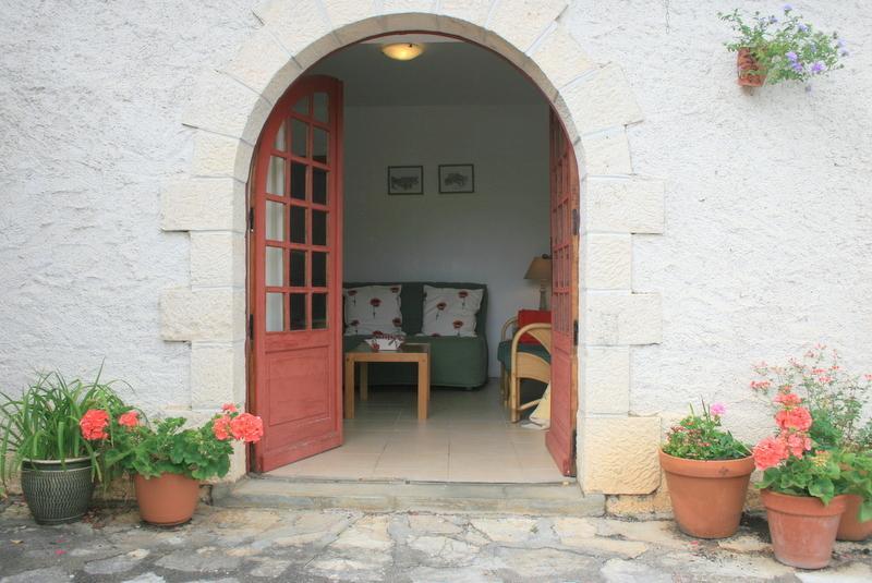 Door to the sunny terrace