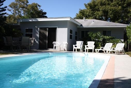 Private backyard with a 15'x30' Pool