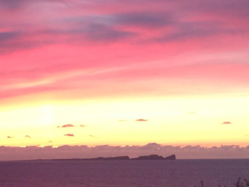Sunset View from the garden overlooking Tory Island