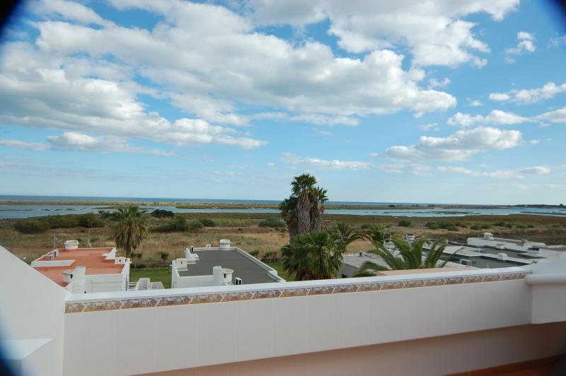 Ria Formosa nature reserve from terrace
