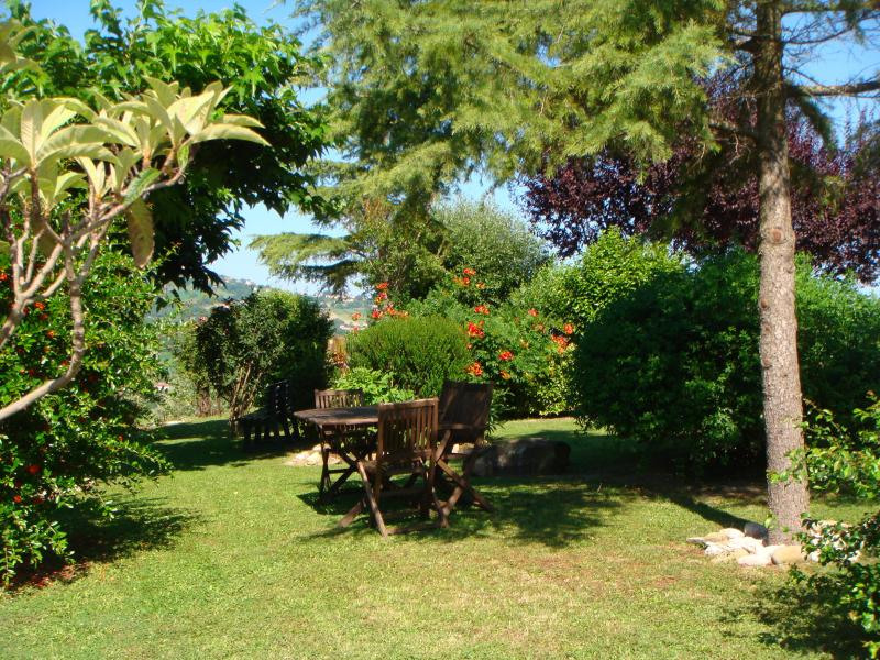 Plenty of seating in our gardens for our guests