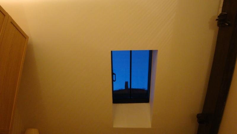 Your view of St Michael's Tower when laying in bed!