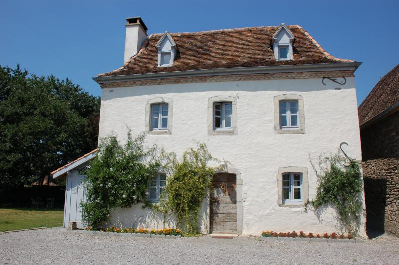the Little House- with a mix of old French style & modern comfort.