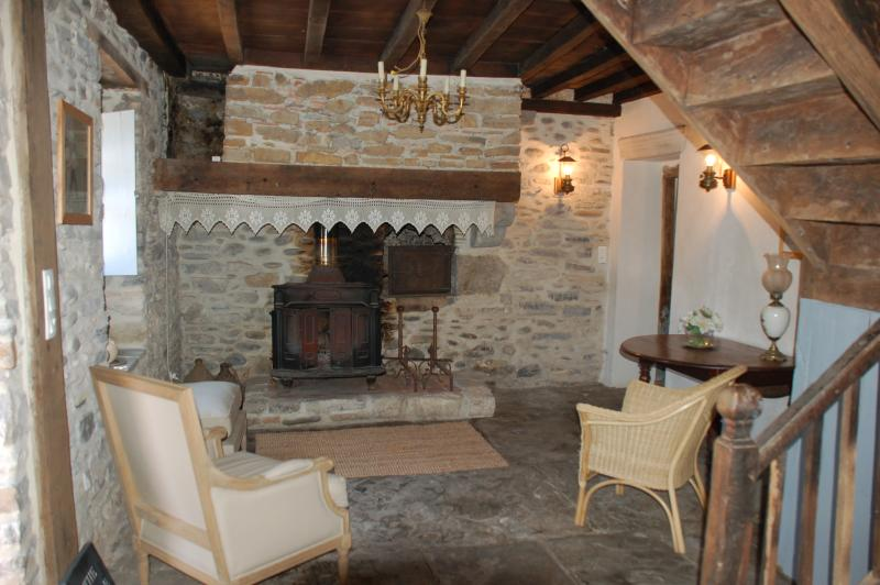 The Bearnaise fireplace- a log fire adds a traditional feel to the 'Bearnaise' style room.