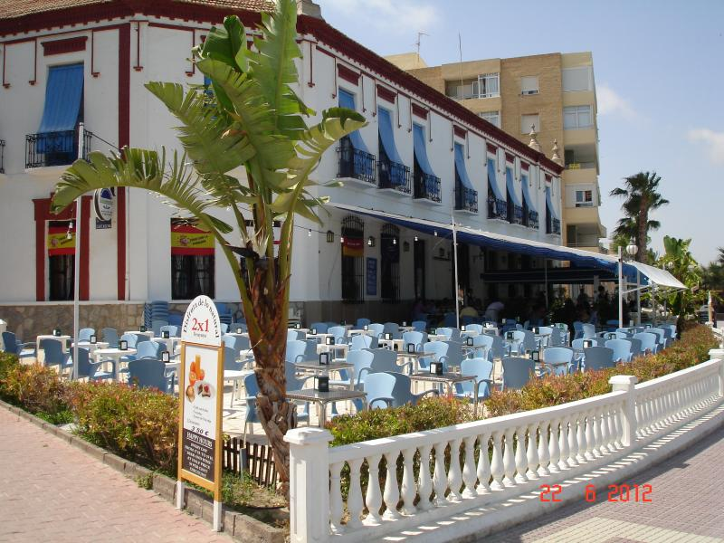 The old hotel on the beach front