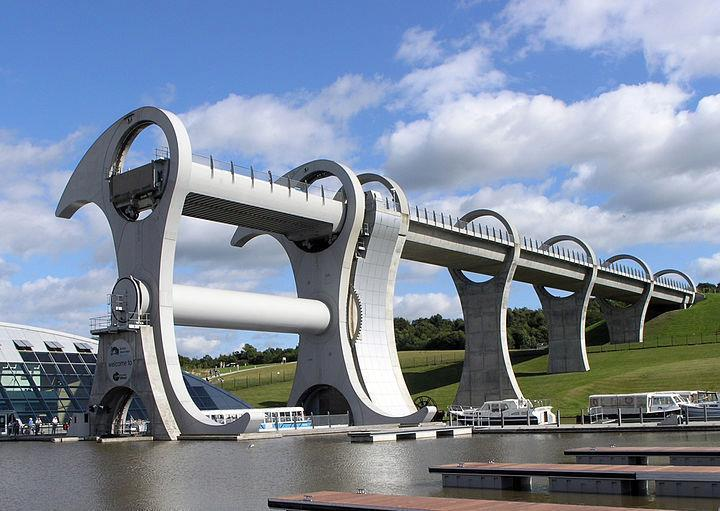 Falkirk Wheel on the canal