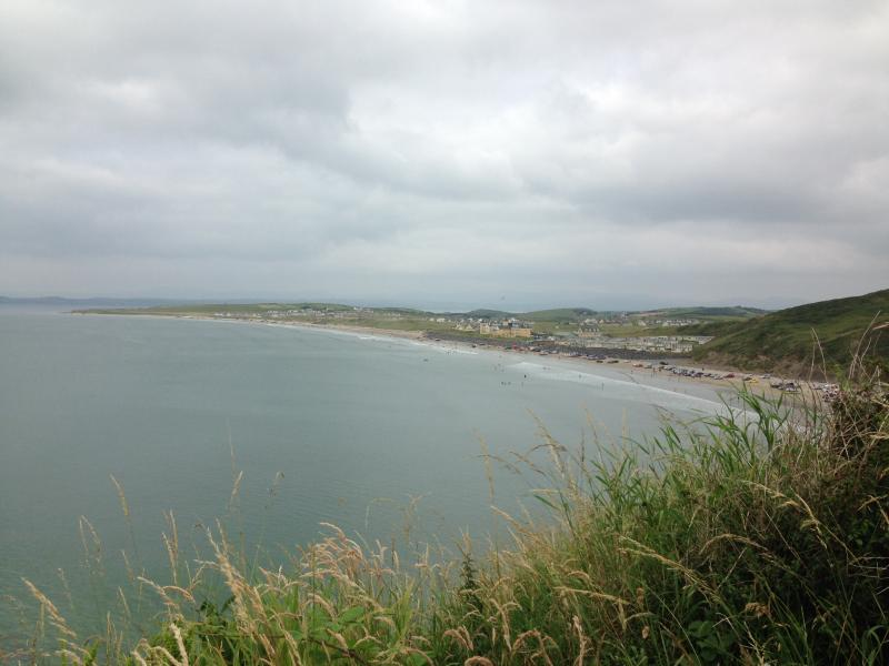 Nearby Rossnowlagh Beach in Co Donegal