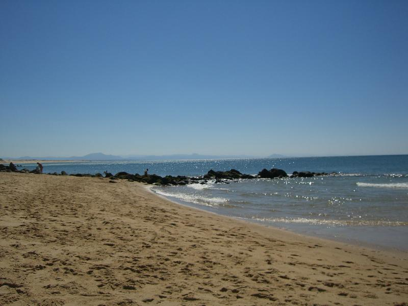 Biarritz - the Milady Beach, a quiet and lovely place for beach picnics or surfing.
