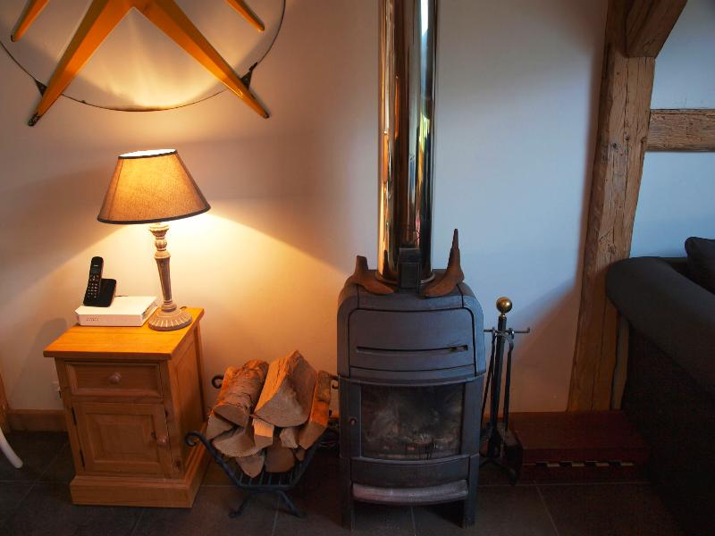 Wood-burning stove for cosy winter evenings