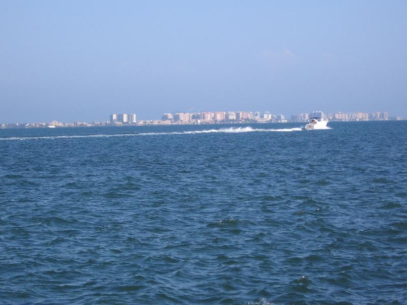 The Mar Menor sea looking over to La Manga