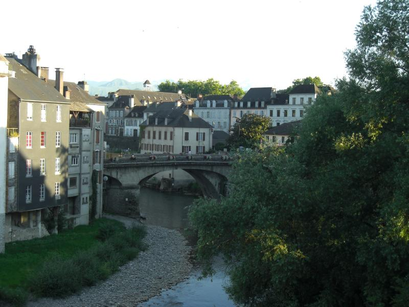Oloron is a lovely nearby mountain town which sits in the river (Gave).
