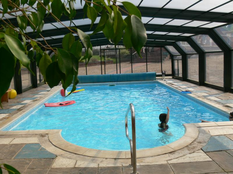 Have fun with the kids, learn to swim  whatever the weather in the heated pool, not shared