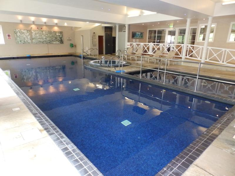 The wonderful leisure centre offers our guests a warm indoor pool, with childrens area, jacuzzi, spa