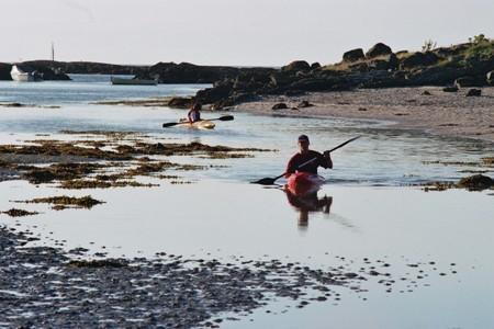 Coastal kyaking, Morar sands.
