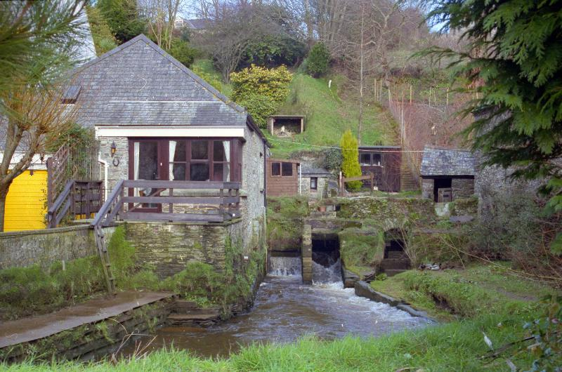 Mill Cottage, view across mill pond