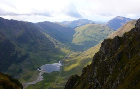 Glencoe from Anoch Mor, by a guest