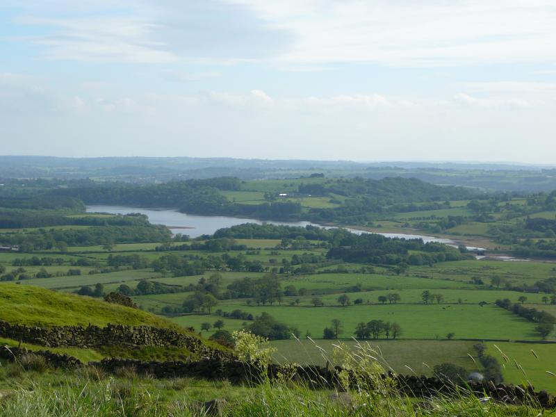 View from The Roaches - amazing views over the Tittesworth Reservoir Valley area & heather moorl