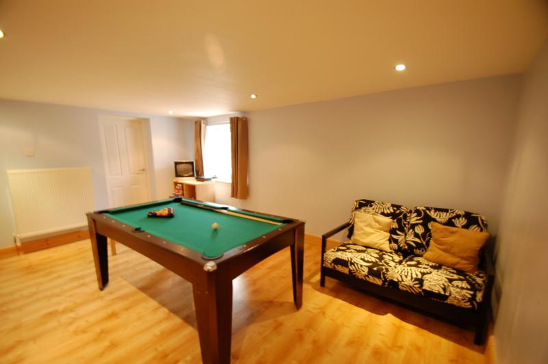 Our games room has a 3 in 1 pool table, Wii and PS2