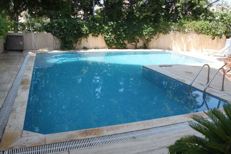 The pool - It is shared only with the next door neighboor who are 2 person only.