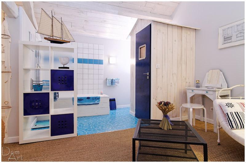 Salle de bain, WC dans la cabane de plage