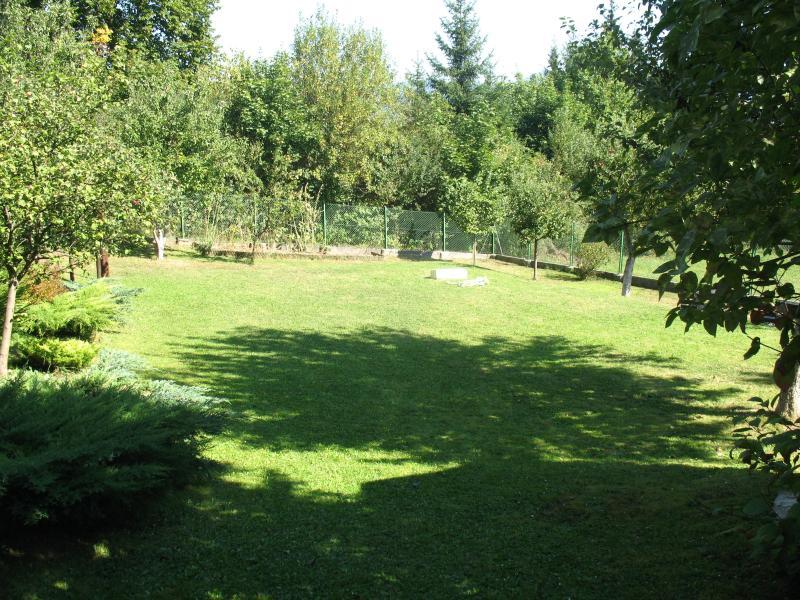 Grote achtertuin (optioneel gebruik van fruitbomen voor schaduw)
