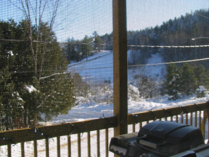 View of the Ski Hills from Balcany