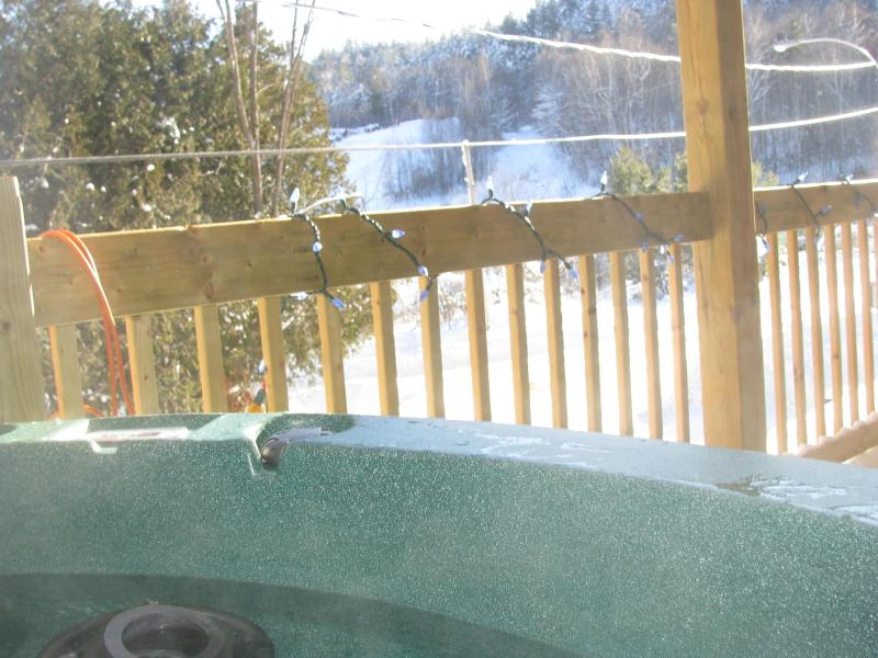 View sitting in the Hot Tub