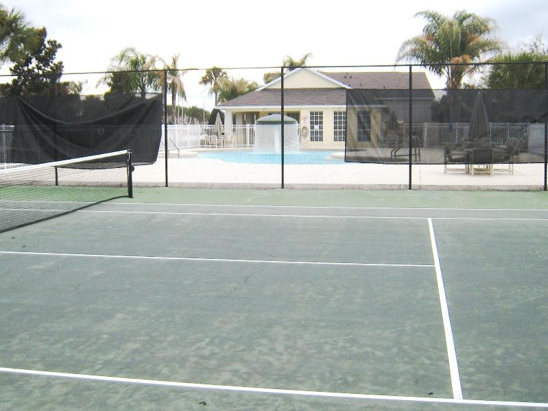 Clubhouse pool and tennis court