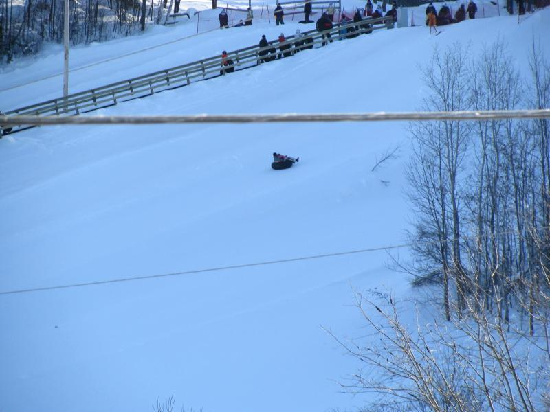 View from Balcany of Tubers going down Edelweiss Tubing Hill