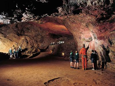 Clearwell caves; the ancient natural iron ore mines can be found in the next village.