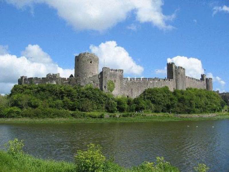 Pembrokeshire has many lovely castles to explore such as this one in Pembroke.