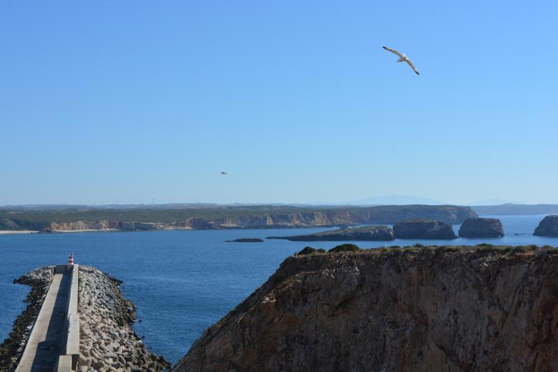 View over sea at Sagres