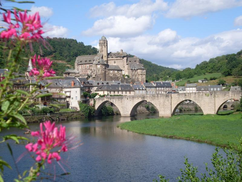 Looking toward the Chateau in Estaing