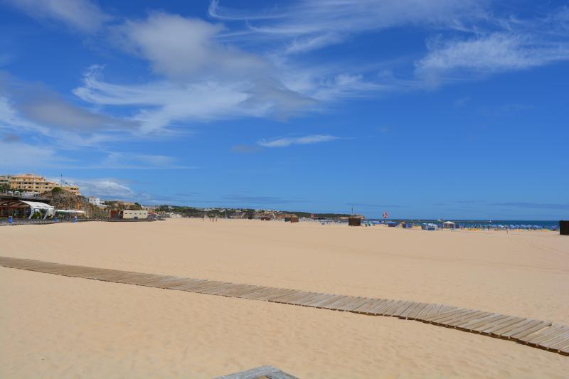 A typical wide sandy beach