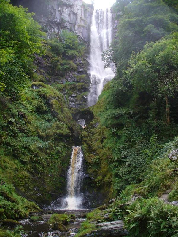 Pistyll Rhaeadr Waterfall one of the Wonders of Wales. 2 miles from Riverside Retreat
