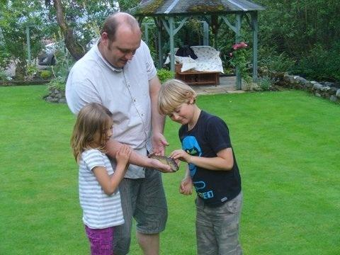 The one fish  that did not get away! ( previous guests) Proud novice dad.