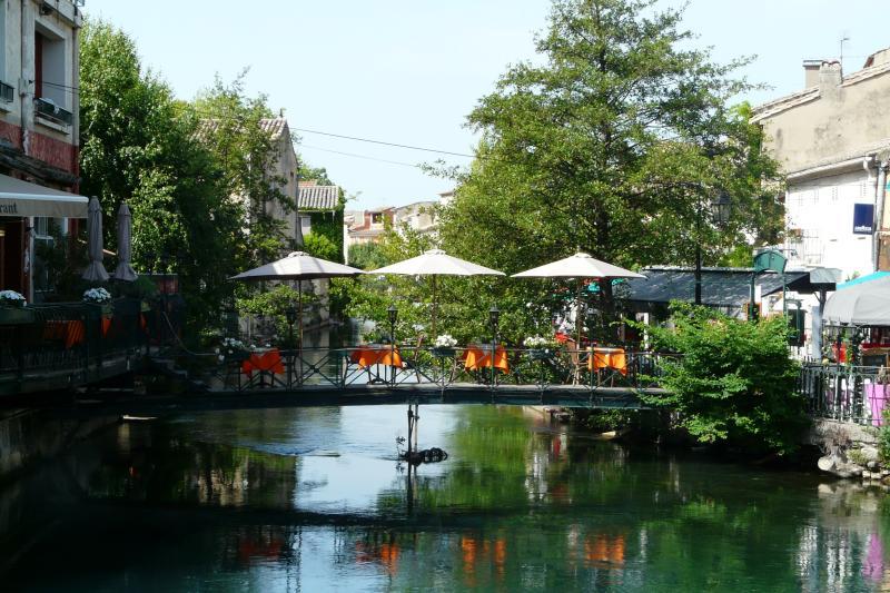 The Sorgue river which runs through the town