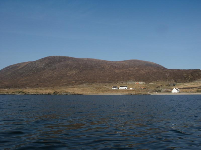 View from loch seaforth towards The Fishermans Cottage