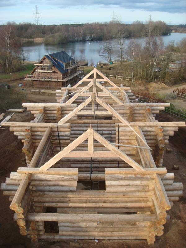 Beautiful view of Fir Lodge during construction