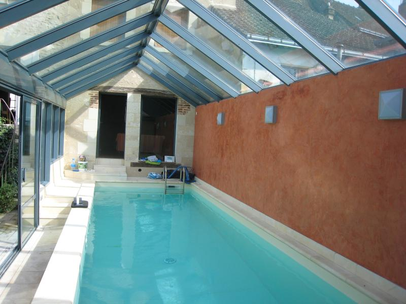 Heated swimming pool, 1.50 deep allowing swimming and children play