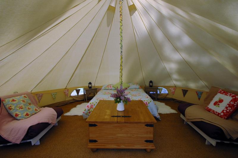 Comfortable and luxurious camping