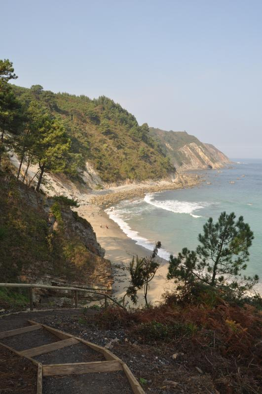 Oleiros beach, 45 minutes walk trough the forest from home
