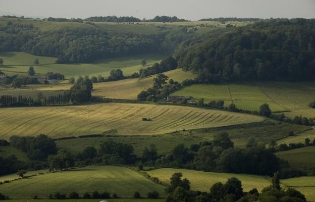 The beautiful rolling hills of the Cotswolds