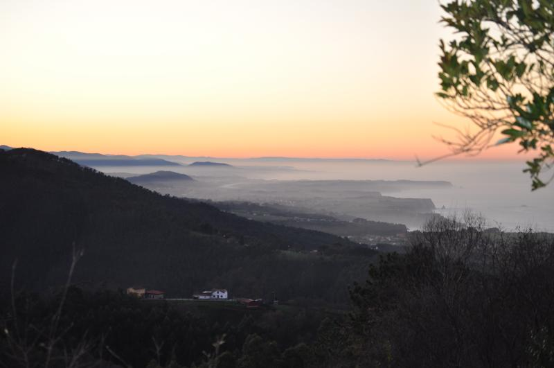 Winter sunset from the hills