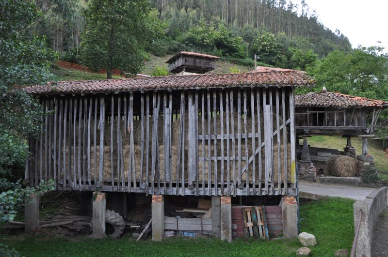 Typical barns at Gallinero, 45 minutes walk