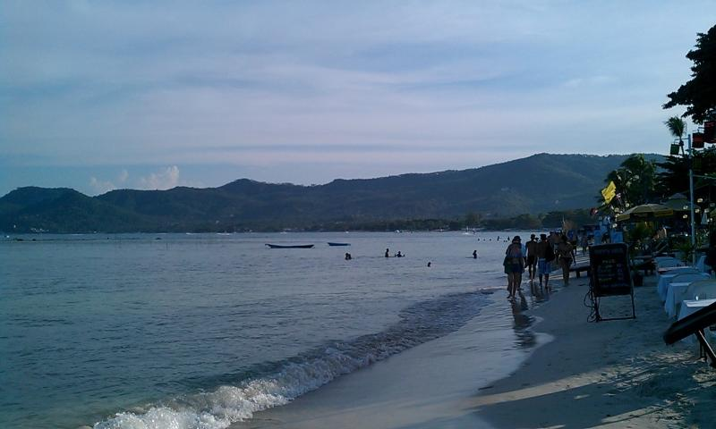 Chaweng Beach - over 2 miles long - the most popular