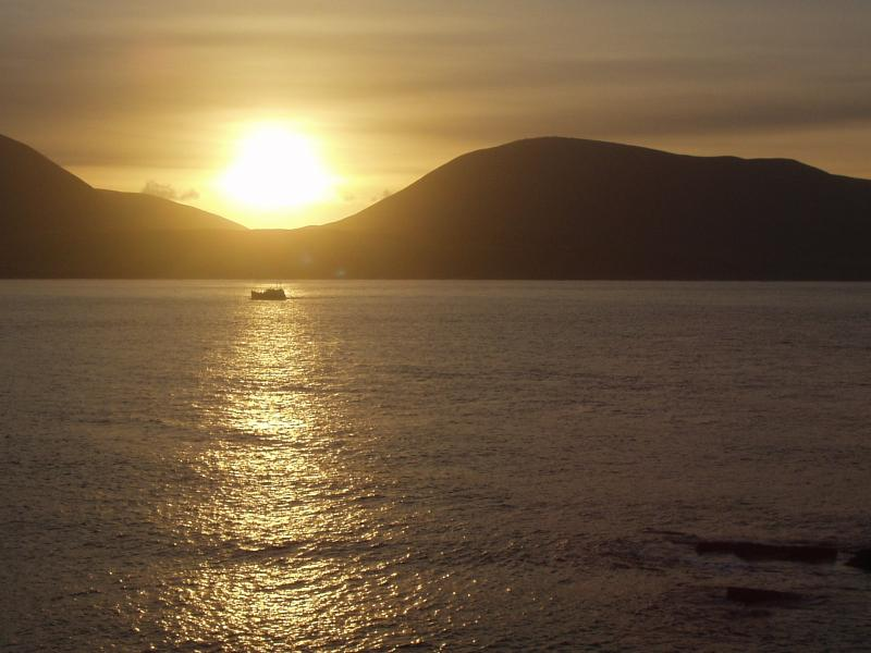 Orkney's dramatic scenery is highlighted by its glorious sunsets.