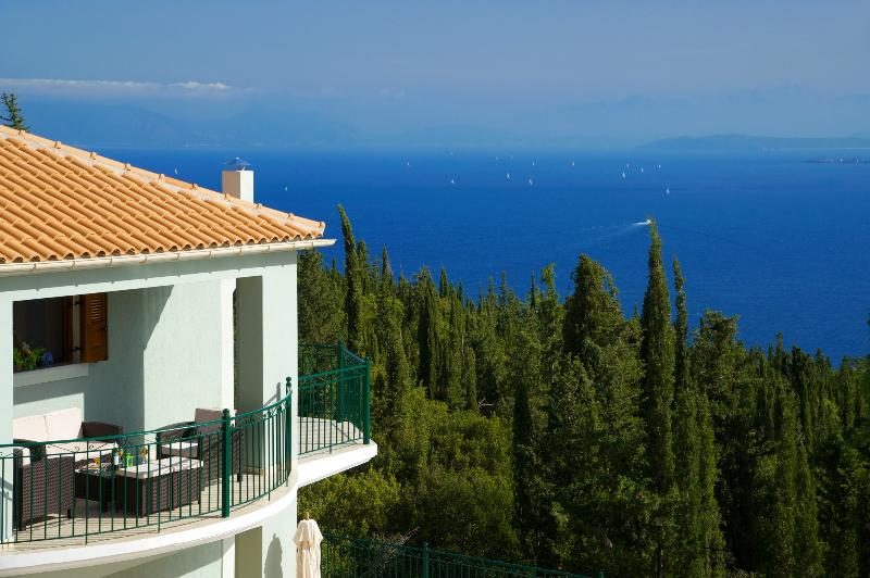 Views of the sea are magnificent & towards Ithaki Island